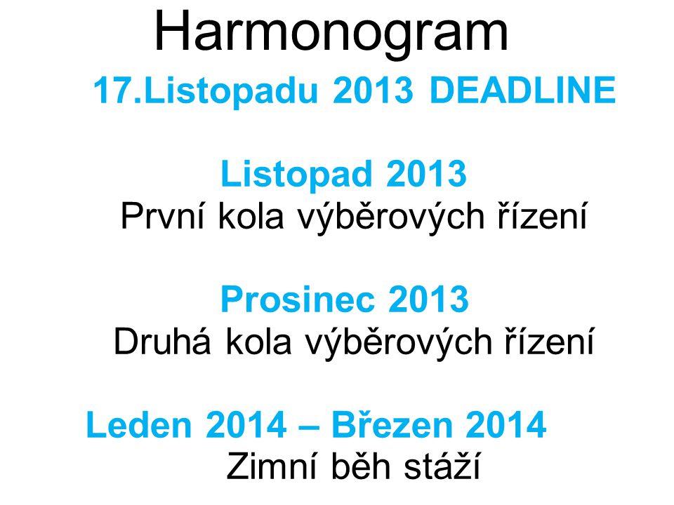 Academic initiation © 2009 IBM Corporation May 14, 2009 Harmonogram 17.Listopadu 2013 DEADLINE Listopad 2013 První kola výběrových řízení Prosinec 201