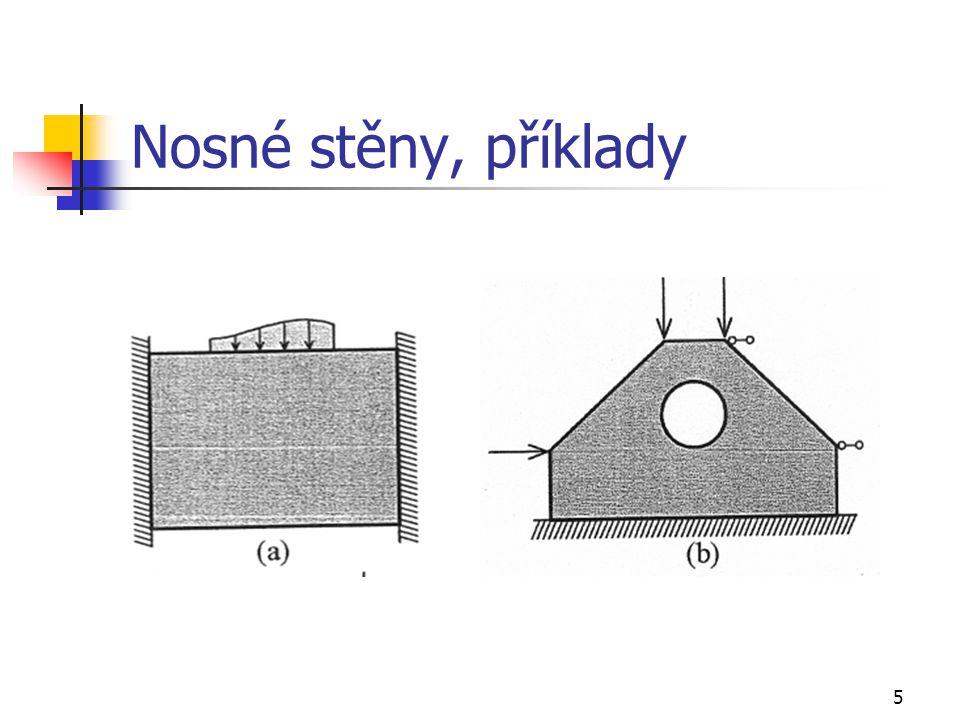 5 Nosné stěny, příklady