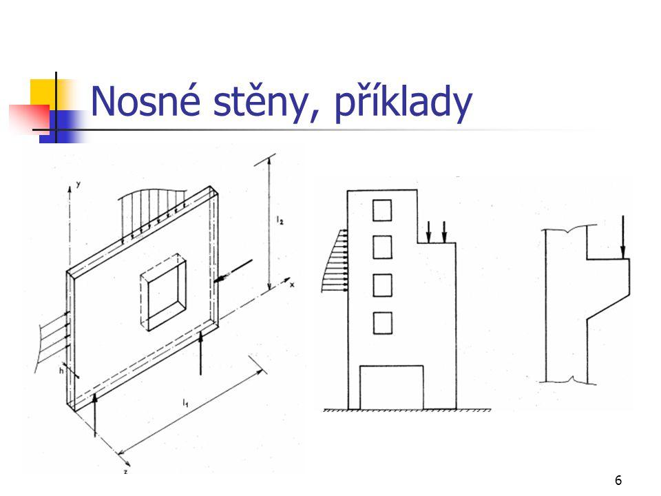 17 Řešení nosných stěn, stěnová rovnice