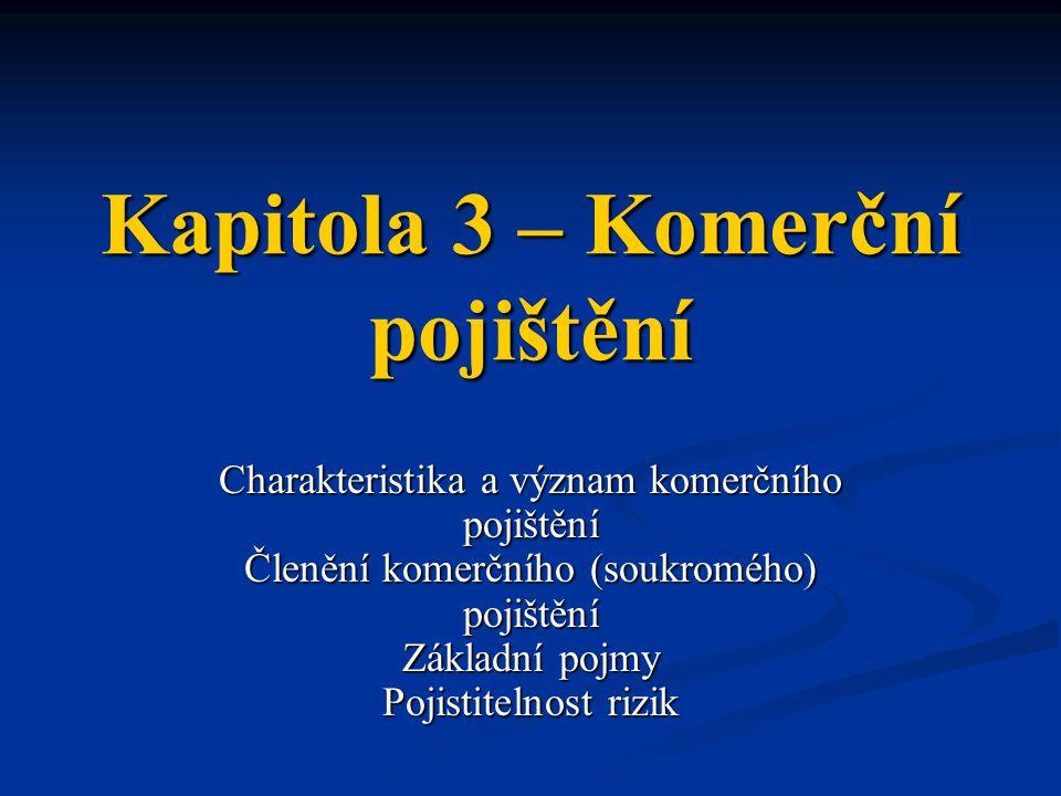 Základní pojmy KP Pojistná smlouva Pojistná smlouva = právní dokument, který završuje dvoustranný právní akt na jehož základě vzniká smluvní pojištění fyzických a právnických osob.