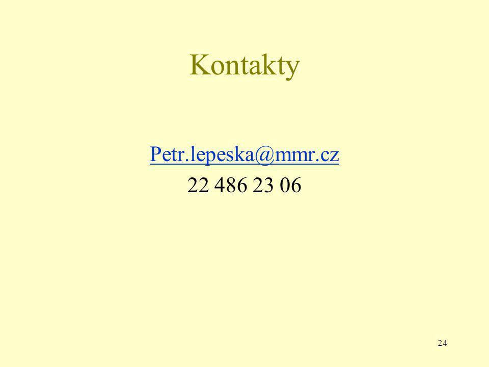 24 Kontakty Petr.lepeska@mmr.cz 22 486 23 06