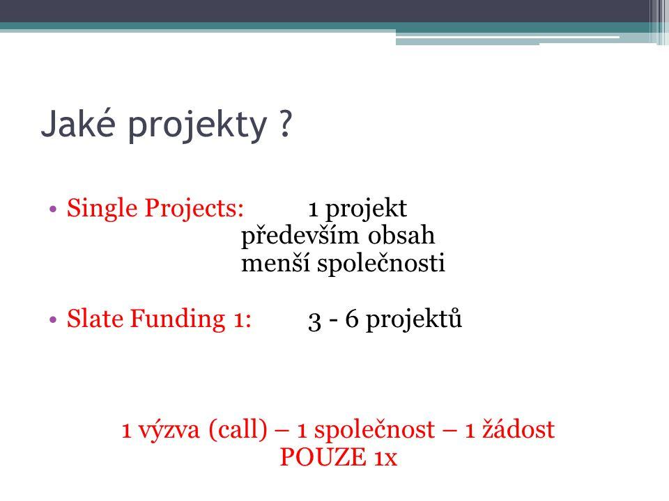 Jaké projekty .