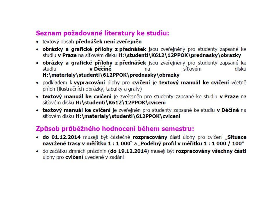 Výcuc Cvičení jsou nepovinná, ale povede se docházka Materiály budou na háčku Vyzvednout si zadání do 23.10.2014 Úlohy č.