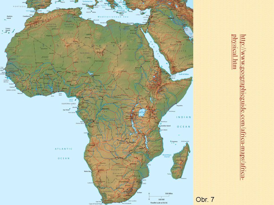 Afrika je třetí největší světadíl (plocha 29.2 mil.