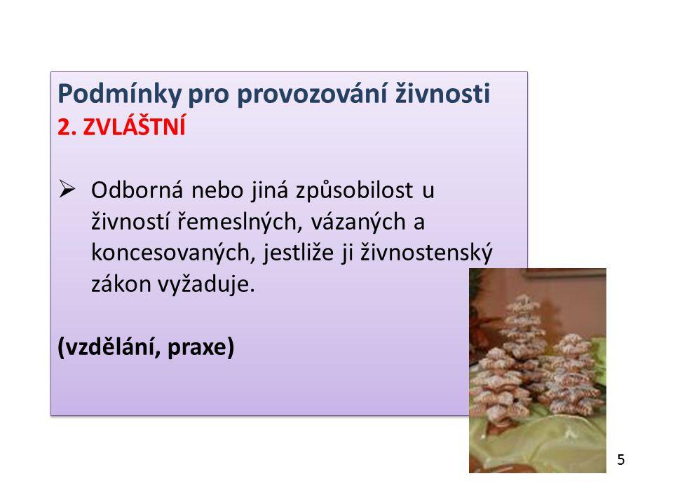Zákon č.455/1991 Sb., o živnostenském podnikání – přílohy: Příloha č.