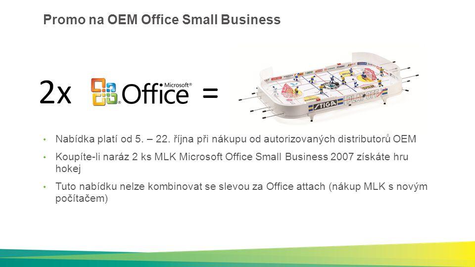 Promo na OEM Office Small Business Nabídka platí od 5.