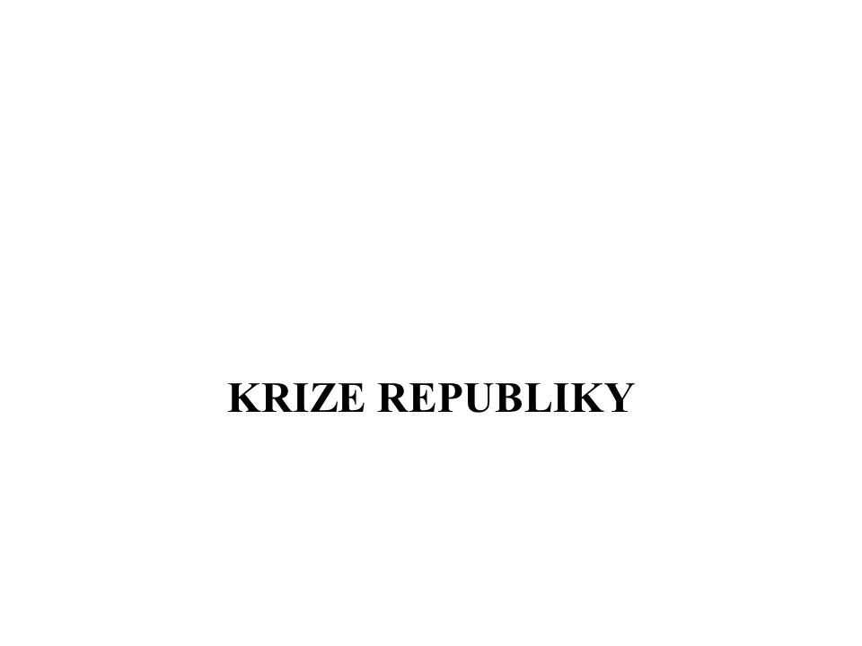 KRIZE REPUBLIKY