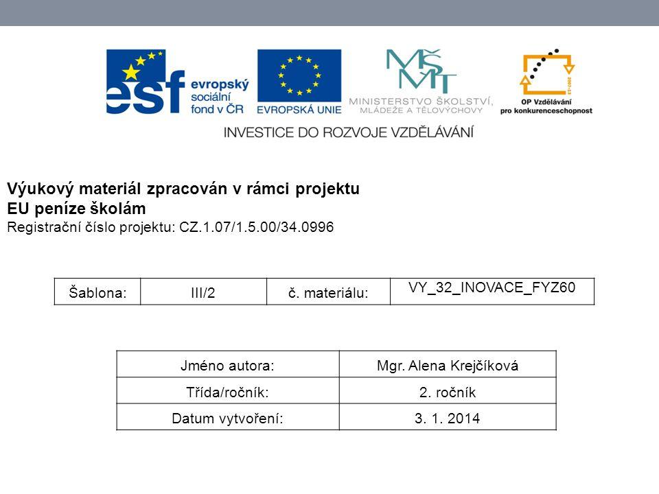 Šablona:III/2č. materiálu: VY_32_INOVACE_FYZ60 Jméno autora:Mgr.