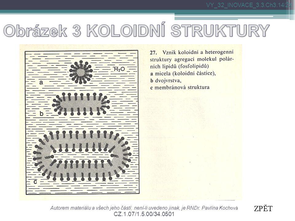 Autorem materiálu a všech jeho částí, není-li uvedeno jinak, je RNDr. Pavlína Koch ová CZ.1.07/1.5.00/34.0501 VY_32_INOVACE_3.3.Ch3.14/Žž ZPĚT
