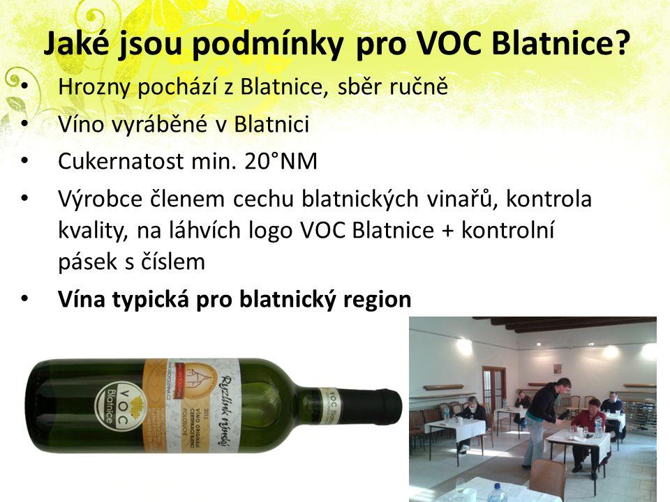 Jaké jsou podmínky pro VOC Blatnice.