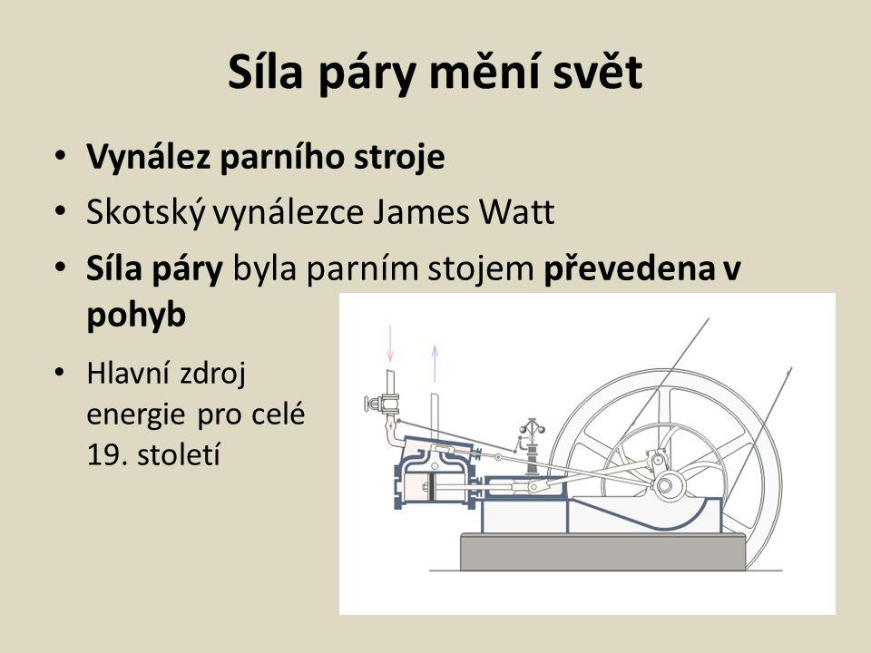 Vynálezy Telegraf Parník Vzducholoď Parní lokomotiva