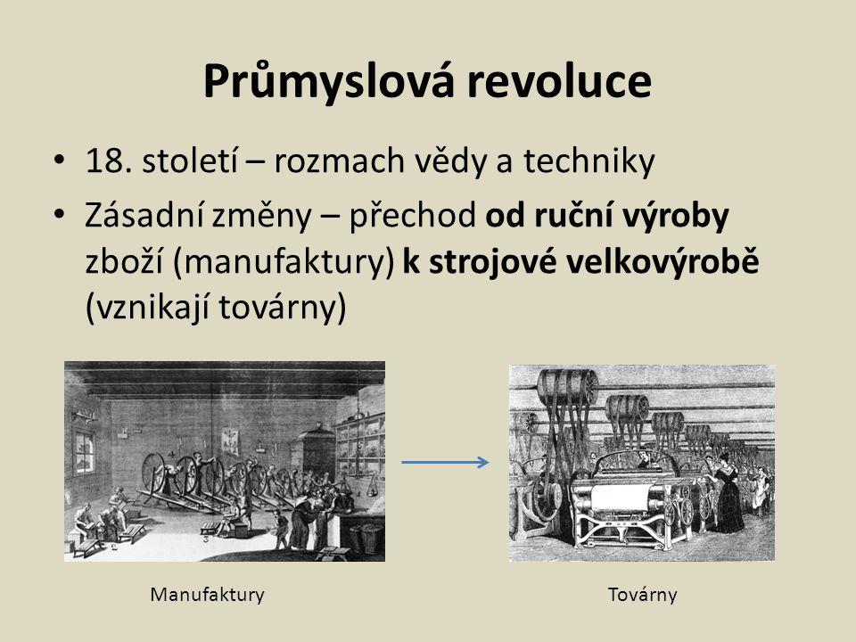 Jaké přínosy a negativa přinesla průmyslová revoluce? Přínosy Negativa