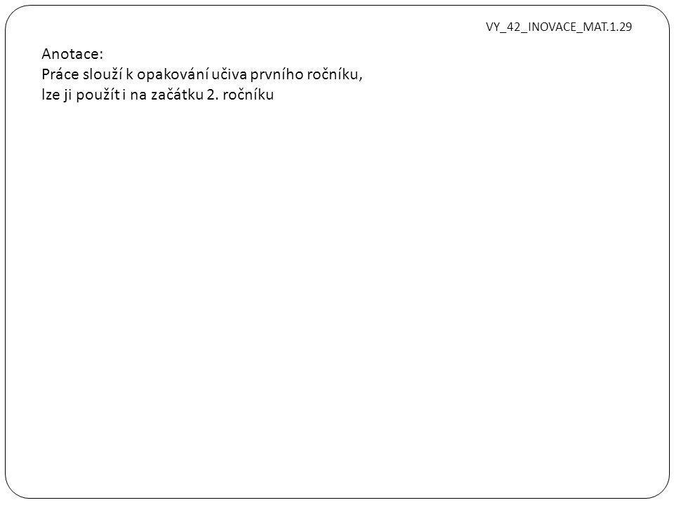 Zjednodušte výraz, uveďte podmínky:. VY_42_INOVACE_MAT.1.29
