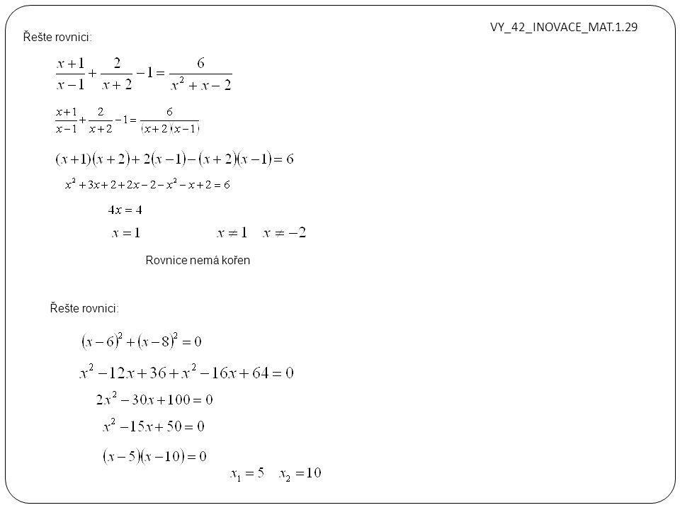 Řešte v R: VY_42_INOVACE_MAT.1.29