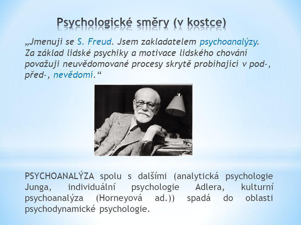 """""""Jmenuji se S. Freud. Jsem zakladatelem psychoanalýzy. Za základ lidské psychiky a motivace lidského chování považuji neuvědomované procesy skrytě pro"""