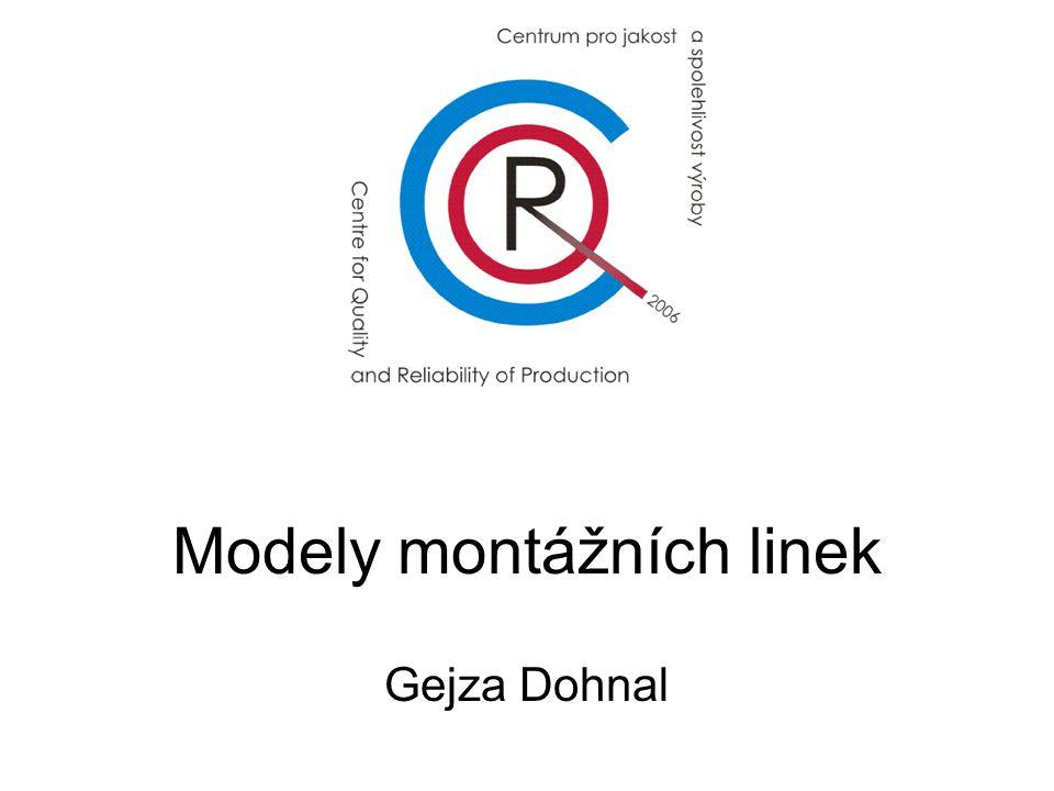 Modely montážních linek Gejza Dohnal