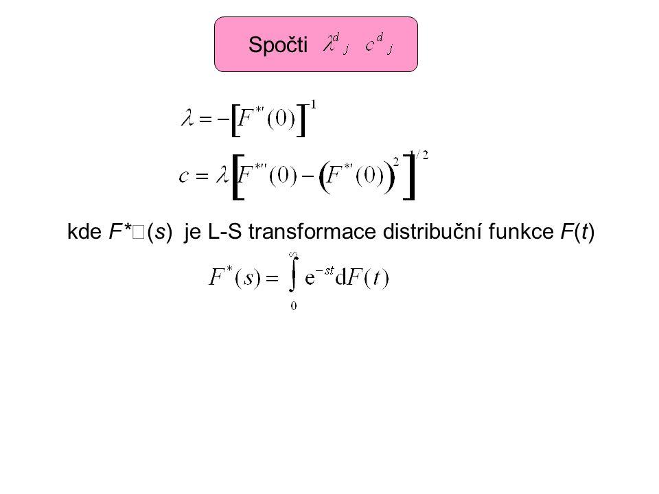 Spočti kde F*(s) je L-S transformace distribuční funkce F(t)