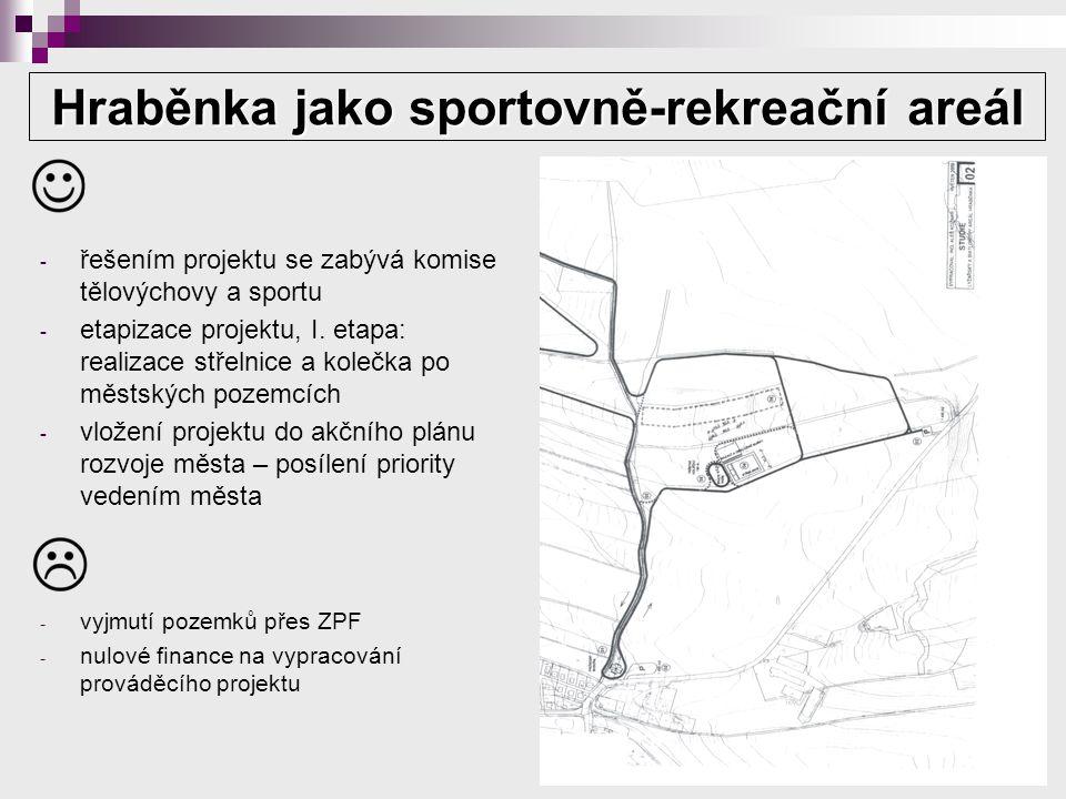 Hraběnka jako sportovně-rekreační areál - řešením projektu se zabývá komise tělovýchovy a sportu - etapizace projektu, I.