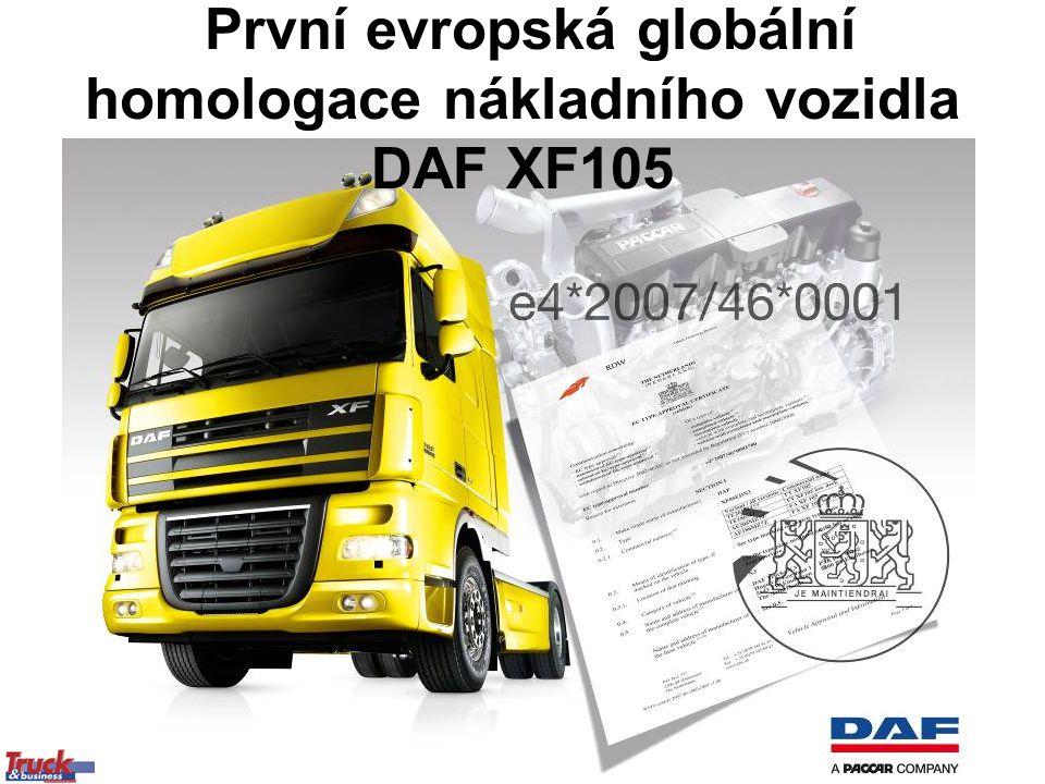 První evropská globální homologace nákladního vozidla DAF XF105