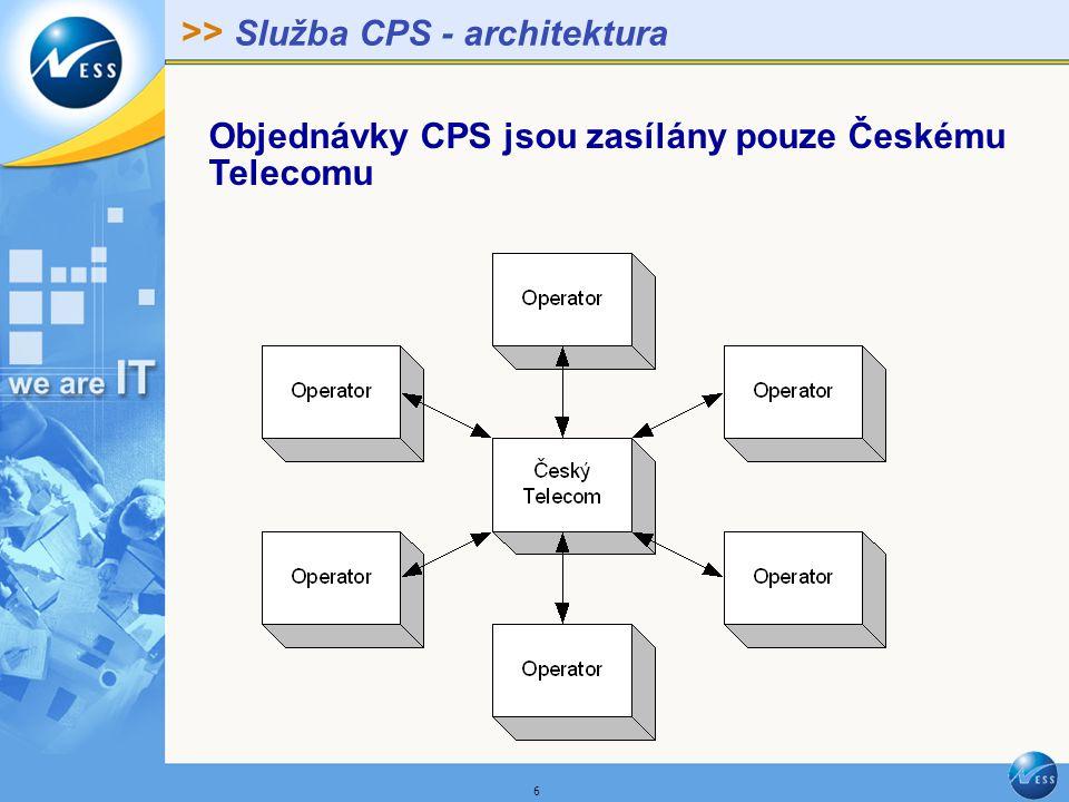 >> 7 Služba NP - architektura Objednávky NP si operátoři předávají vzájemně