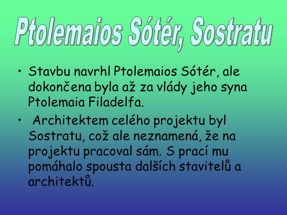 Stavbu navrhl Ptolemaios Sótér, ale dokončena byla až za vlády jeho syna Ptolemaia Filadelfa.