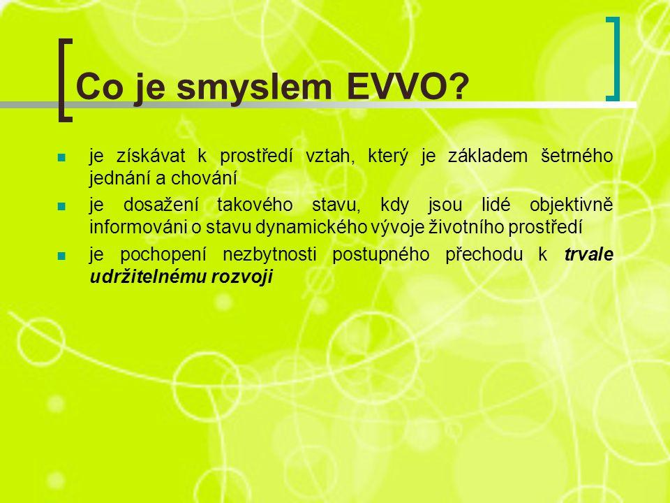 Co je smyslem EVVO.