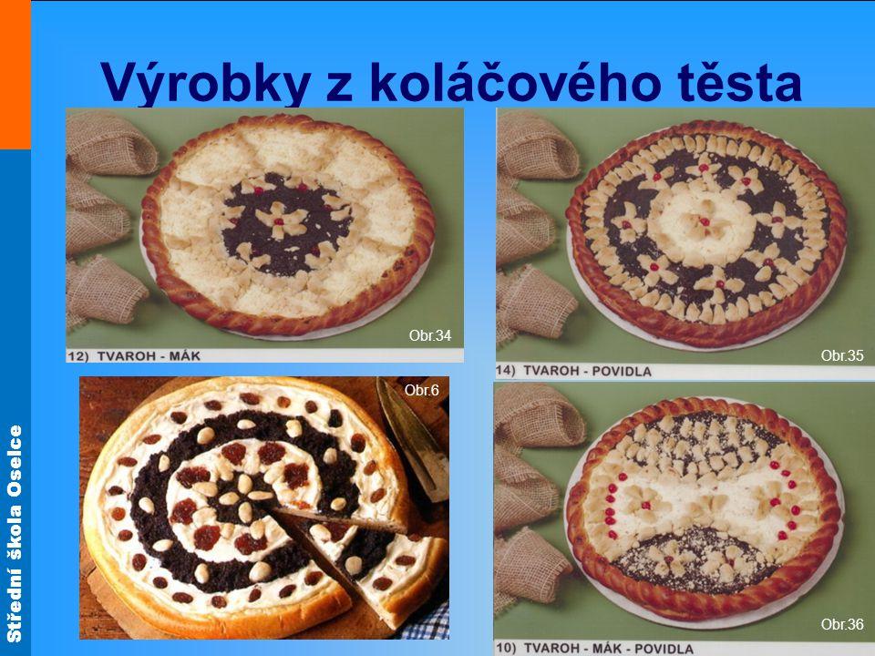 Střední škola Oselce Výrobky z koláčového těsta Obr.34 Obr.35 Obr.36 Obr.6