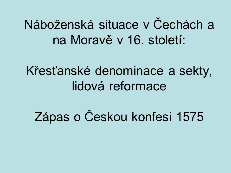 Náboženská situace v Čechách a na Moravě v 16.