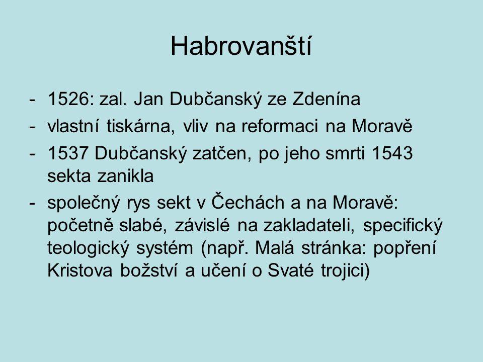 Habrovanští -1526: zal.