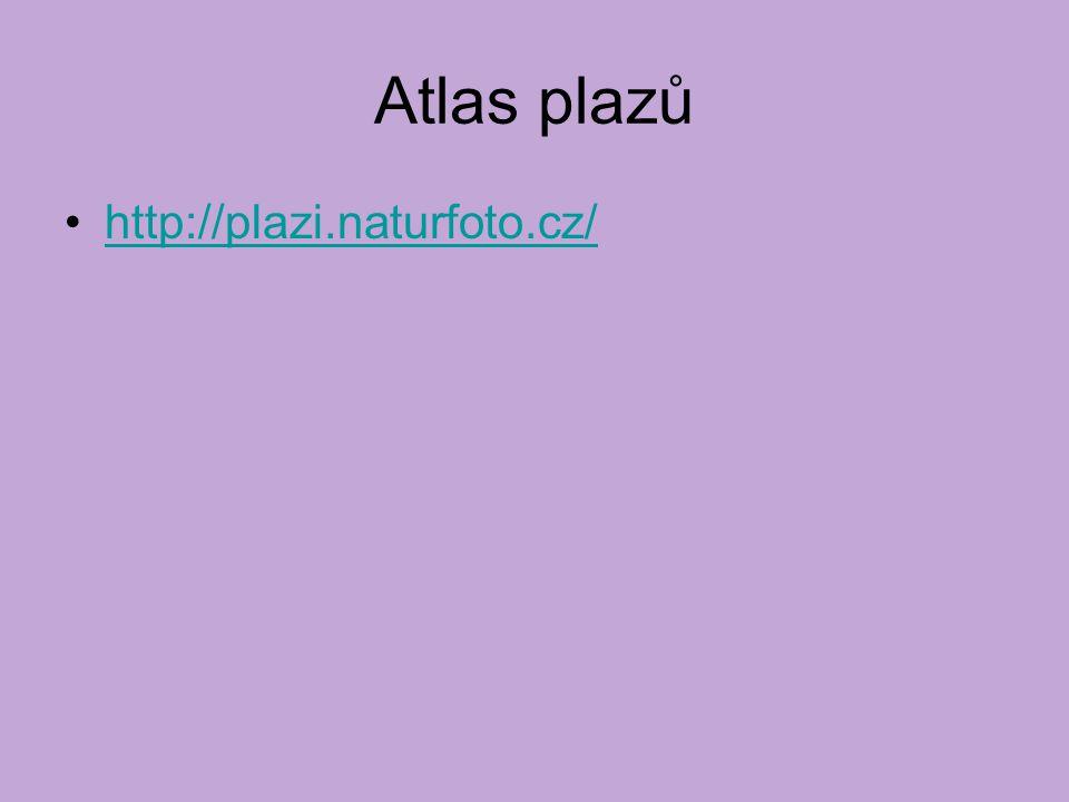 Atlas plazů http://plazi.naturfoto.cz/