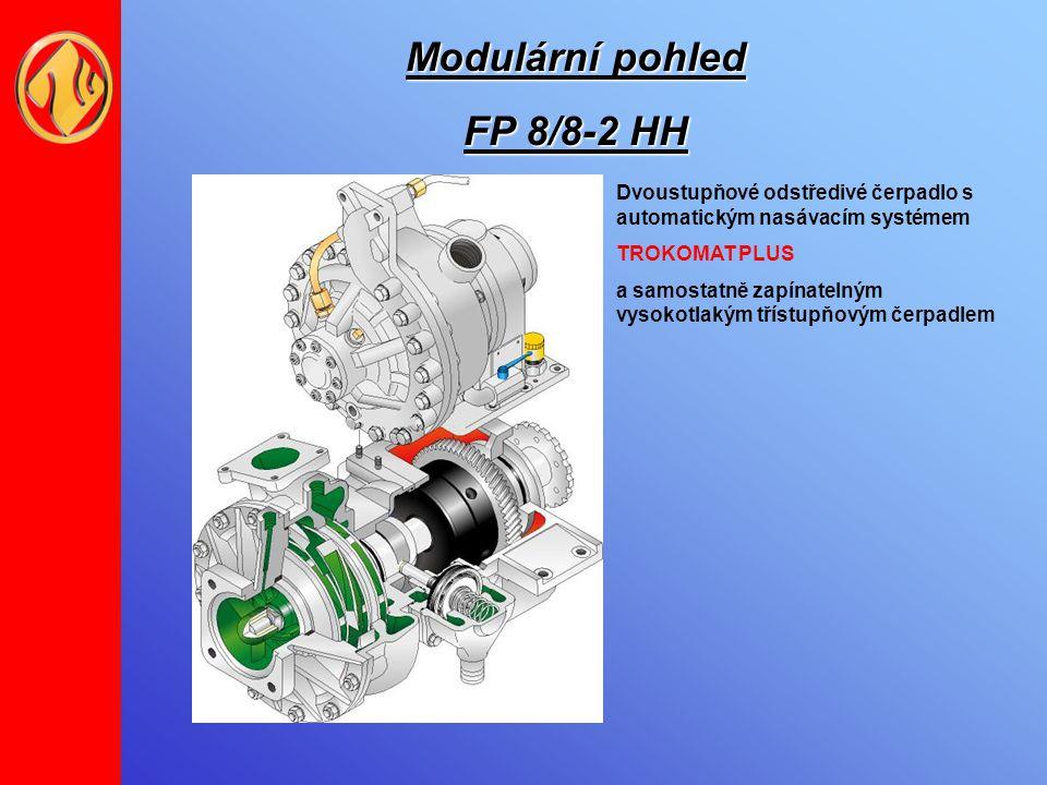 Modulární pohled FP 8/8-2 HH Dvoustupňové odstředivé čerpadlo s automatickým nasávacím systémem TROKOMAT PLUS a samostatně zapínatelným vysokotlakým t