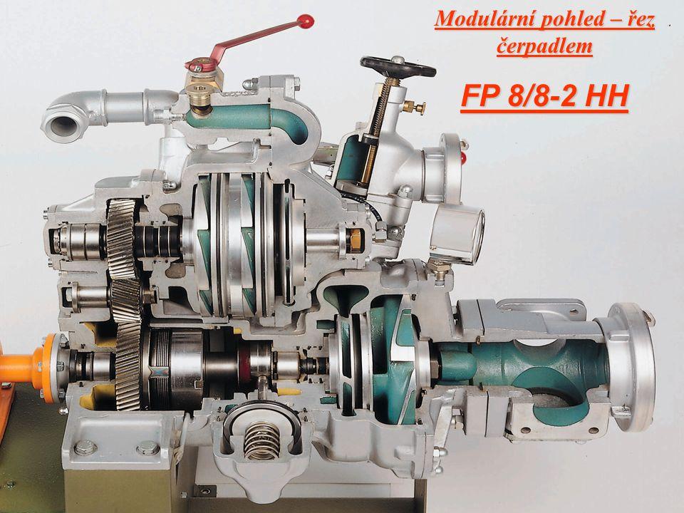 Modulární pohled – řez čerpadlem FP 8/8-2 HH