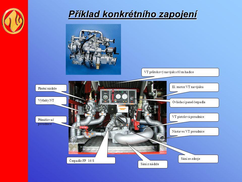 Výkonové nízkotlaké parametry FP 8/8 – (pro CAS 8/16) : Nízkotlaký provoz jmenovitý průtok vody800 l/min při jmenovitém tlaku800 kPa a jmenovité sací výšce3 m jmenovitý průtok vody1 600 l/min při jmenovitém tlaku800 kPa a jmenovité sací výšce3 m maximální tlak při uzavřeném výtlaku při nejvyšších otáčkách,které lze nastavit 1.6 MPa FP 16/8 (FPN 10-3000) – (pro CAS 16/24) : Nízkotlaký provoz jmenovitý průtok vody3000 l/min při jmenovitém tlaku1000 kPa a jmenovité sací výšce3 m maximální tlak při uzavřeném výtlaku při nejvyšších otáčkách,které lze nastavit 1.6 MPa
