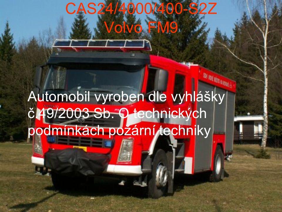 Automobil vyroben dle vyhlášky č.49/2003 Sb. O technických podmínkách požární techniky