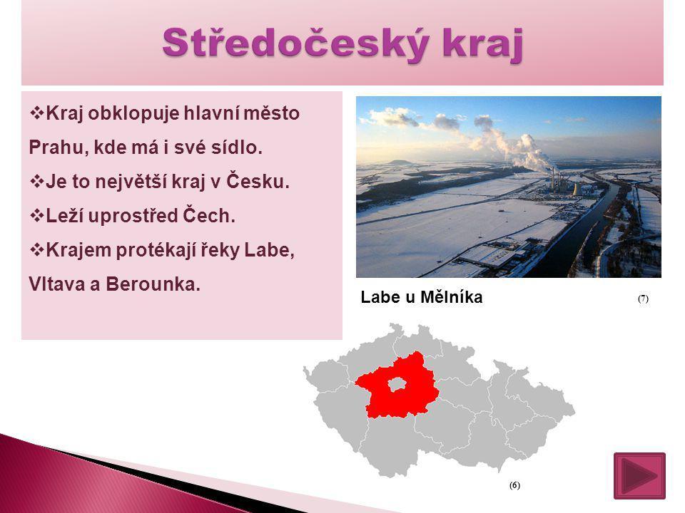  Kraj obklopuje hlavní město Prahu, kde má i své sídlo.  Je to největší kraj v Česku.  Leží uprostřed Čech.  Krajem protékají řeky Labe, Vltava a