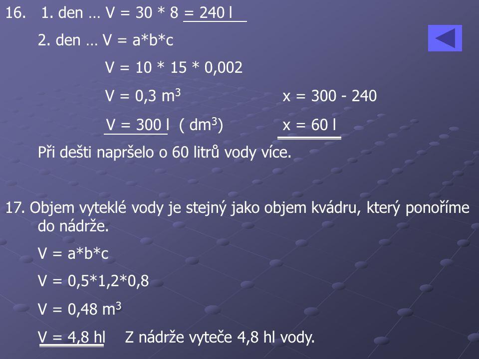 16.1. den … V = 30 * 8 = 240 l 2.