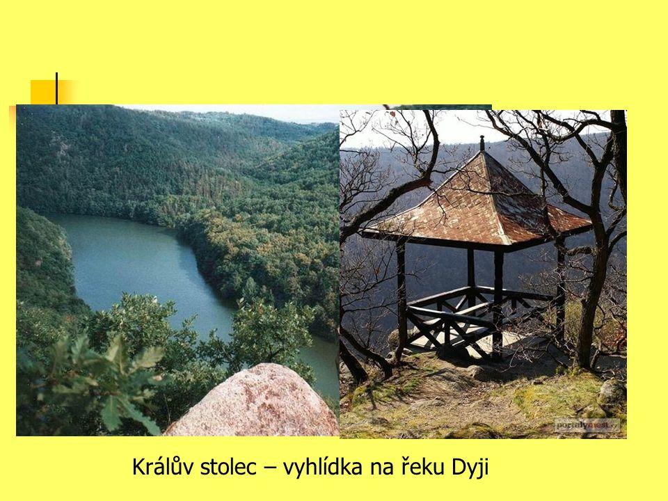 Králův stolec – vyhlídka na řeku Dyji