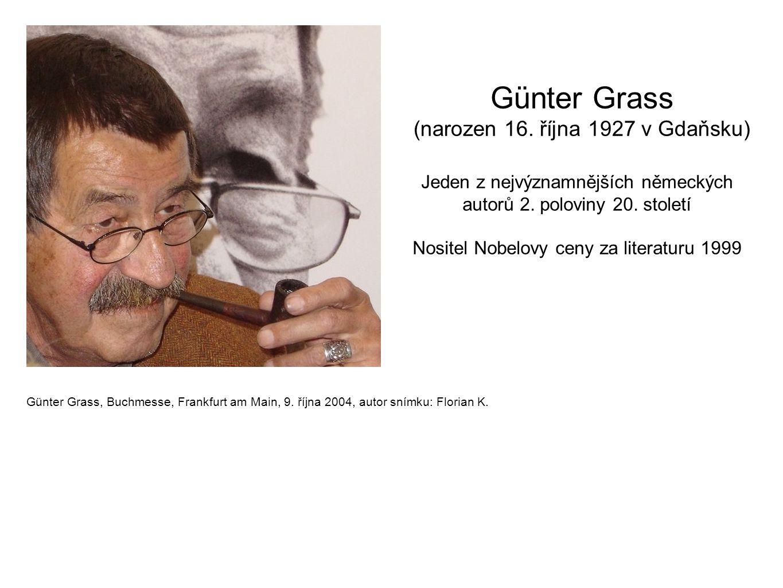 Günter Grass, Buchmesse, Frankfurt am Main, 9. října 2004, autor snímku: Florian K. Günter Grass (narozen 16. října 1927 v Gdaňsku) Jeden z nejvýznamn