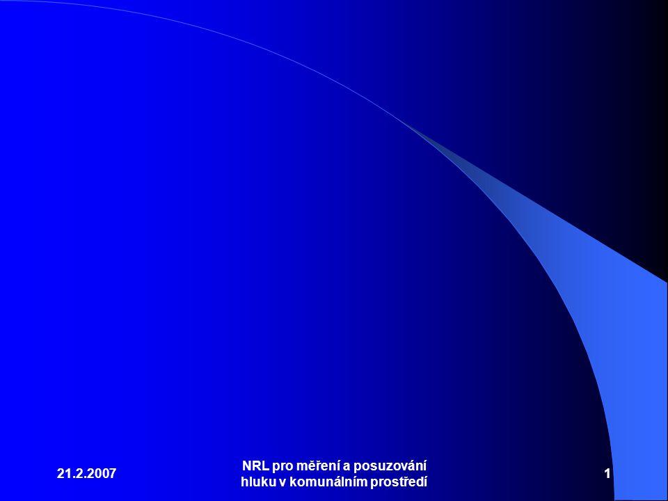 21.2.2007 NRL pro měření a posuzování hluku v komunálním prostředí 1