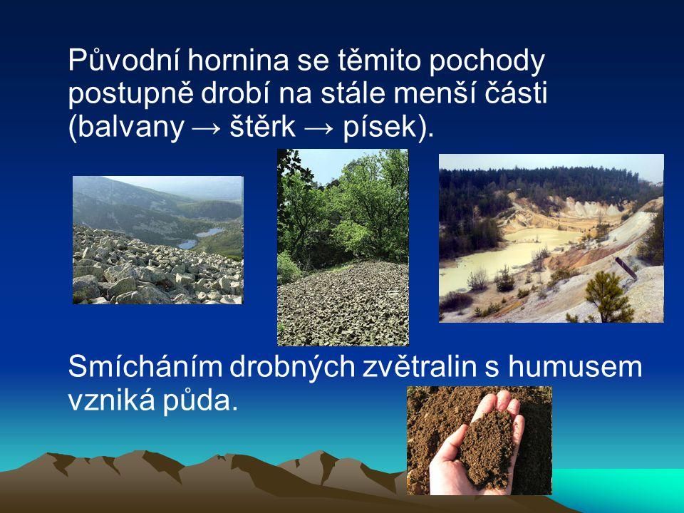 Zajímavé útvary způsobené zvětráváním v ČR:
