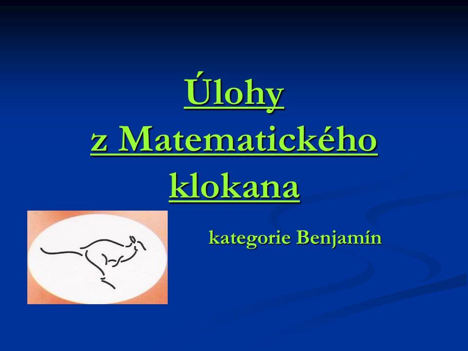 Úlohy z Matematického klokana kategorie Benjamín kategorie Benjamín
