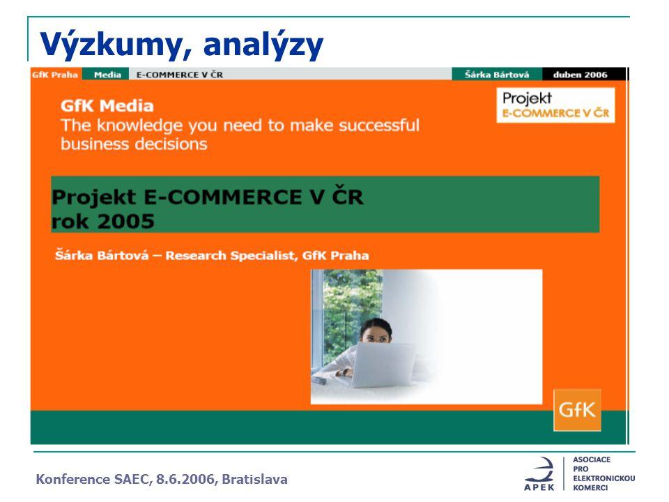 Výzkumy, analýzy Konference SAEC, 8.6.2006, Bratislava