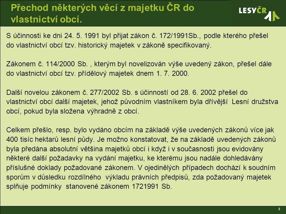 3 Přechod některých věcí z majetku ČR do vlastnictví obcí.