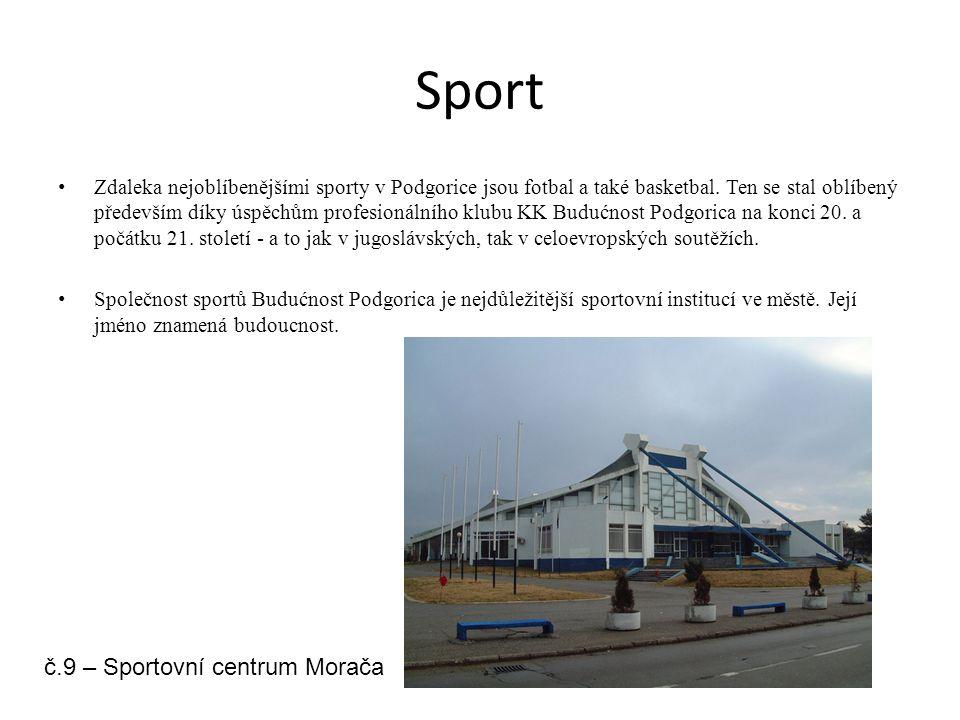 Sport Zdaleka nejoblíbenějšími sporty v Podgorice jsou fotbal a také basketbal. Ten se stal oblíbený především díky úspěchům profesionálního klubu KK