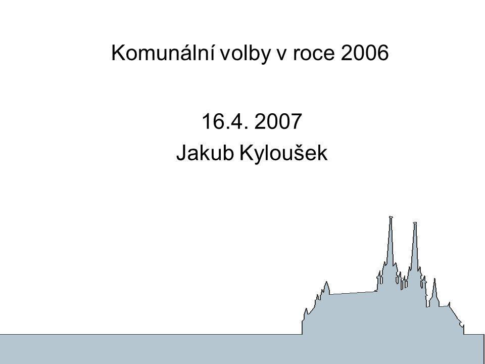 Komunální volby v roce 2006 16.4. 2007 Jakub Kyloušek