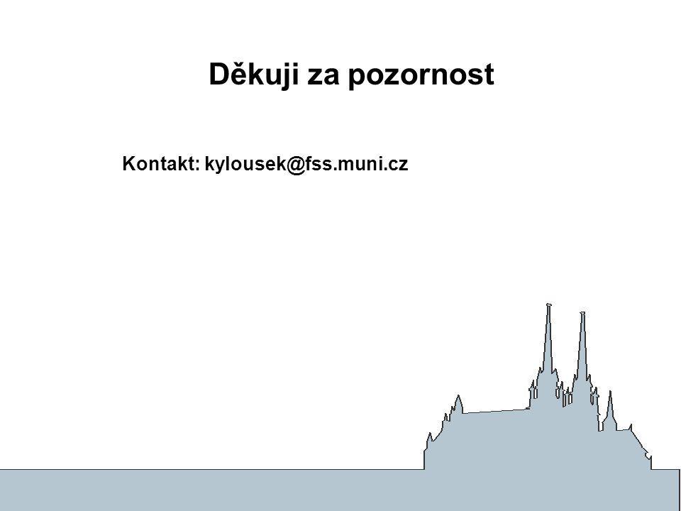 Děkuji za pozornost Kontakt: kylousek@fss.muni.cz