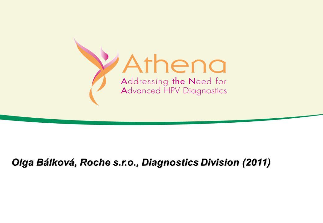 ATHENA Hlavní výsledky cobas® 4800 HPV Test HC2 95% CI Senzitivita 93,5 % (43/46) (82,5 – 97,8) 91,3 % (42/46) (79,7 – 96,6) Specifičnost 69,3 % (1 061/1 532) (66,9 – 71,5) 70,0 % (1 062/1 517) (67,7 – 72,3) Srovnání senzitivity a specifičnosti cobas® 4800 HPV Test a HC2 pro detekci ≥CIN 3 Prokázána shodná klinická senzitivita cobas® 4800 HPV Test s dosud používanou standardní metodou Hybrid Capture 2 (HC2).