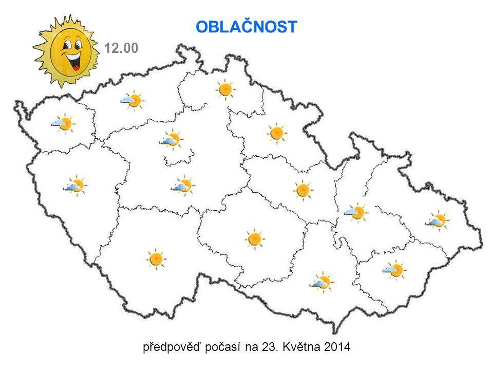 předpověď počasí na 23. Května 2014 12.00 OBLAČNOST
