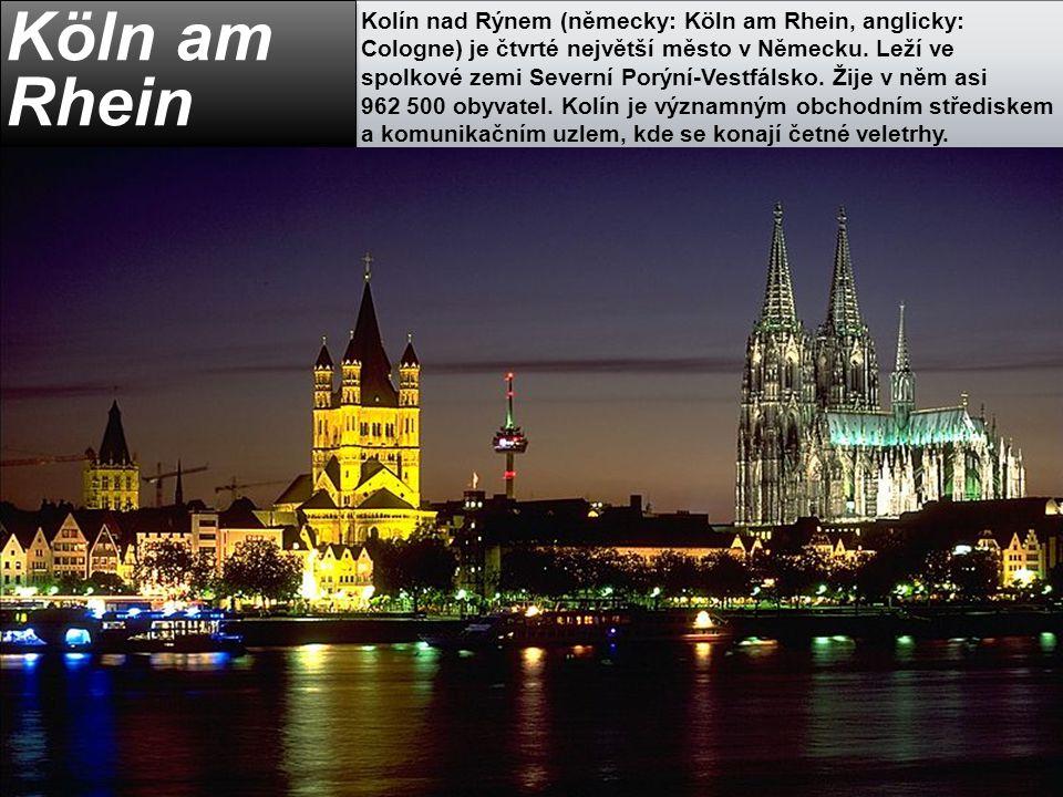 Kolín nad Rýnem (německy: Köln am Rhein, anglicky: Cologne) je čtvrté největší město v Německu. Leží ve spolkové zemi Severní Porýní-Vestfálsko. Žije