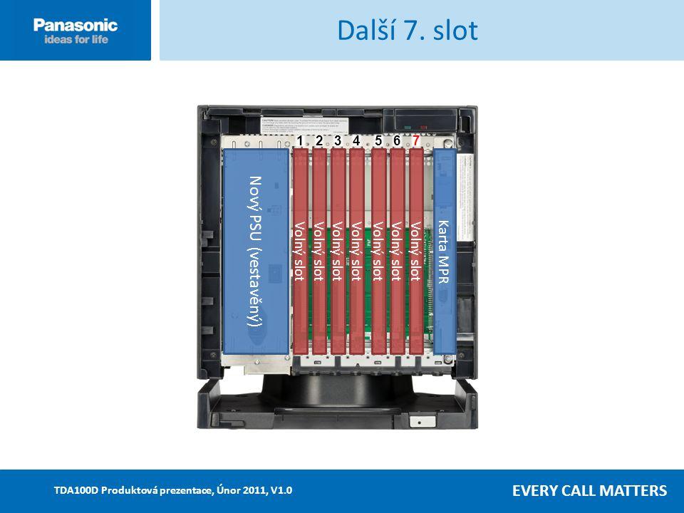 EVERY CALL MATTERS TDA100D Produktová prezentace, Únor 2011, V1.0 Další 7.